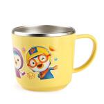韩国爱迪生啵乐乐儿童水杯 宝宝餐具不锈钢水杯隔热水杯带手柄