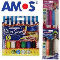 韩国AMOS人体彩绘笔 万圣节蜡笔 宝宝儿童画脸笔 脸部彩绘颜料
