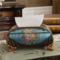 奢华花瓶欧式三件套摆件创意树脂纸巾盒烟灰缸果盘套装家居装饰品