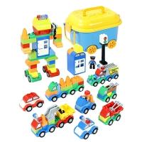 儿童大颗粒汽车积木拼装玩具43-6宝宝1-2男孩7-8-10周岁智力