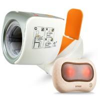 欧姆龙电子血压计HEM-1020臂筒式 按摩枕按摩器HM-340