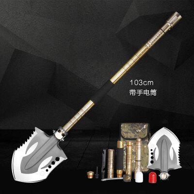 户外铁锹工兵铲军铲折叠中国军工铲德国多功能碳钢铲子特种兵铁锹