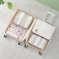 旅行洗漱包 行李整理6件套装 印花化妆包六件套收纳包内衣整理袋