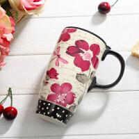 马克杯带盖陶瓷杯牛奶咖啡杯水杯家用创意潮流杯子大容量