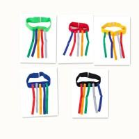 揪尾巴幼儿园抓尾巴背心玩具儿童粘球衣户外体育游戏感统训练器材 织带揪尾巴 5个颜色