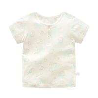 儿童睡衣夏男童内衣短袖天丝圆领套头透气薄款婴儿衣服
