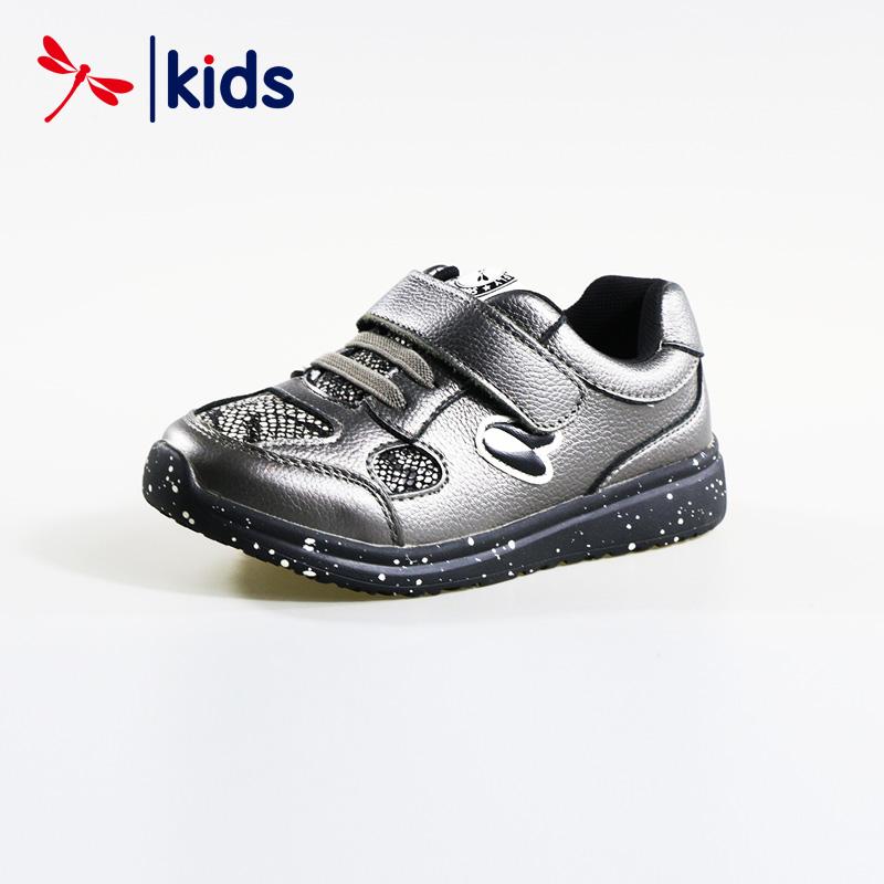 红蜻蜓童鞋中小童魔术贴时尚运动鞋