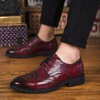 DAZED CONFUSED新款布洛克雕花男鞋英伦牛皮圆头商务休闲皮鞋英伦时尚潮流鞋