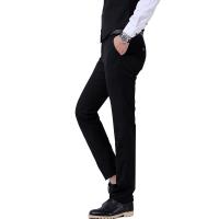 男士西裤春季修身型商务休闲正装宽松中青年职业黑色夏西服长裤子