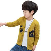 童装男童毛衣开衫儿童针织衫外套春秋新款中大童毛衣