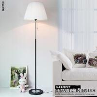 现代简约客厅卧室床头灯欧式创意布艺装饰遥控LED落地灯调光台灯