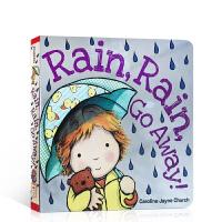 英文原版 Rain Rain Go Away 儿童启蒙纸板书幼儿天气认知撕不烂书名家 Caroline Jayne Church