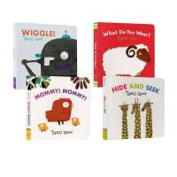 【全店满300减80】Peekaboo Wiggle 英文原版绘本0 3 6岁 儿童入门启蒙纸板书大师五味太郎5册