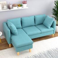 布艺沙发组合 客厅大小户型L型转角贵妃位沙发双人三人位家具套装(此款送五个抱枕 贵妃位可左右互换)