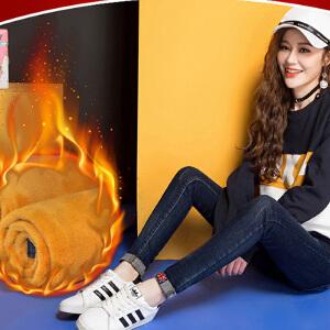 新款冬季加绒牛仔裤女冬外穿加厚保暖显瘦小脚铅笔裤