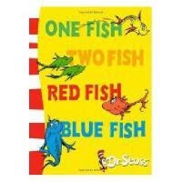 英文原版儿童书 One Fish, Two Fish, Red Fish, Blue Fish 苏斯博士:一条鱼、两条