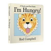 英文原版绘本 I'm Hungry 幼儿启蒙认知 Dear Zoo同作者 玩具体操作书翻翻书触摸书 Rod Campbe