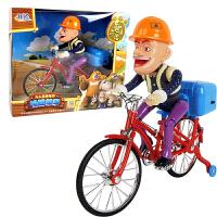 美高乐 熊出没光头强电动自行车脚踏单车伐木枪锯套装儿童玩具 MG037