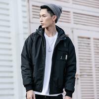 日系潮牌工装连帽夹克棉衣男青年保暖外套