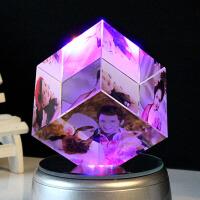 人造仿玻璃球刻字生日礼物创意女生送女友浪漫人造水晶玫瑰花摆件结婚纪念日礼