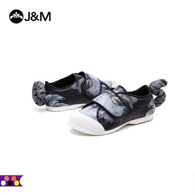 jm快乐玛丽秋季女童帆布鞋平底卡通个性时尚舒适童鞋亲子鞋63163C 卡通造型  形象逼真  优质选材  柔软舒适