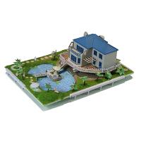建筑小房子diy迷你手工玩具屋绿野春天花园别墅拼装模型
