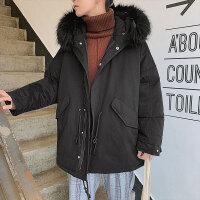 棉袄男新款冬季外套男韩版潮流冬装加厚大毛领短款棉衣棉服男
