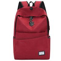 双肩电脑包简约15.6寸16寸男韩版女士书包双肩包大容量百搭学生USB充电