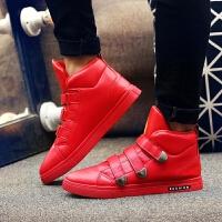 CUM板鞋 冬季男鞋高帮鞋男英伦板鞋男潮流休闲运动鞋高邦皮鞋潮鞋