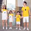 【每满200减100】茉蒂菲莉 亲子装 夏季新款童装字母印花中小童短袖T恤套头衫韩版薄款纯色亲子装