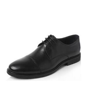 Tata/他她2018秋牛皮革商务通勤单鞋绑带牛津鞋S3C24CM8