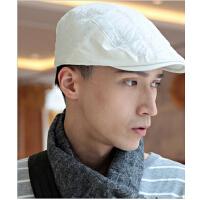 保暖鸭舌帽 潮男 韩版男士帽子户外加厚 秋天冬季 前进帽时尚贝雷帽