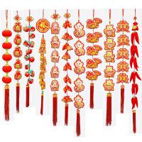 新年装饰春节装饰用品过年货喜庆鞭炮辣椒串挂饰客厅挂件