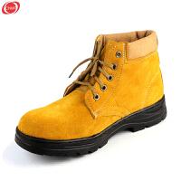 谋福 翻毛牛皮劳保鞋工作鞋户外鞋   舒适/耐磨/透气 橡胶大底耐油酸碱
