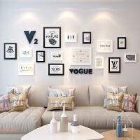 黑白照片墙相框墙客厅沙发悬挂相片墙卧室餐厅墙面装饰相片框组合