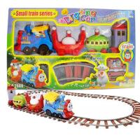 哈比比玩具 2147电动火车头轨道卡通儿童电动音乐叮叮车轨道