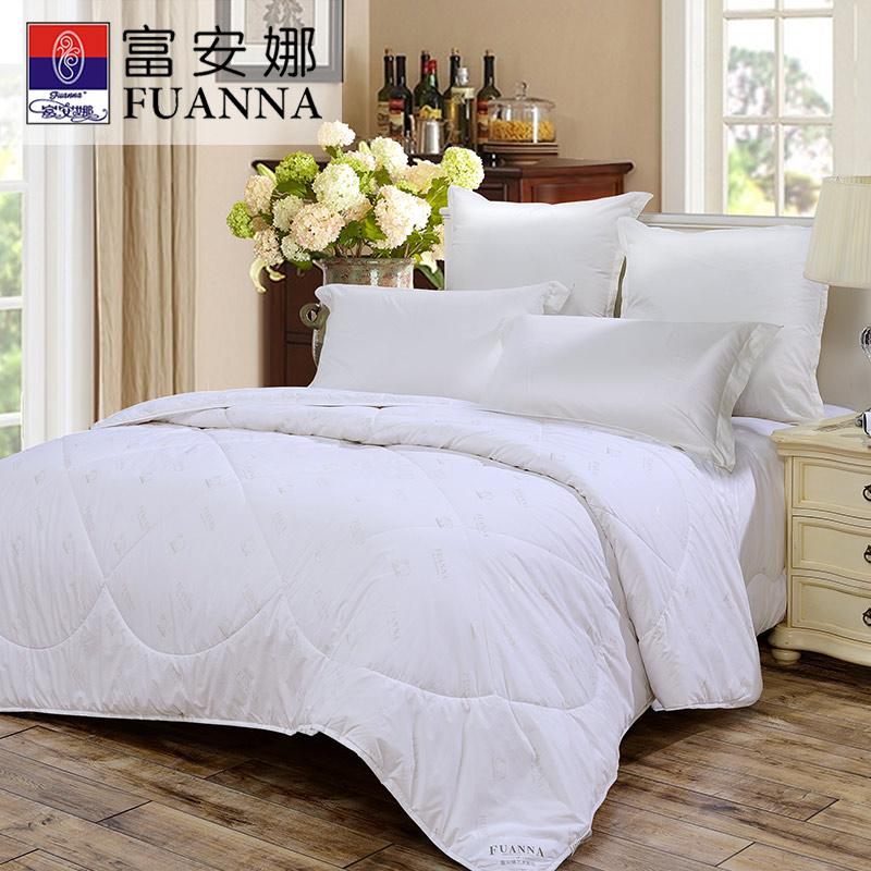 富安娜家纺 羊毛被子冬被芯澳洲羊毛冬厚被春秋被二合一被 1.5/1.8m床适用被子被芯