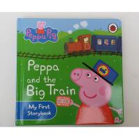 英文原版Peppa Pig: Peppa and the Big Train卡板书 粉红猪小妹
