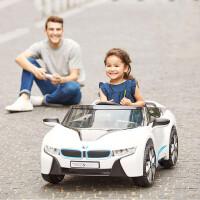 新款儿童电动车四轮汽车遥控玩具车可坐人汽车宝宝玩具车可坐人童车儿童电瓶车 白色(W480QG-M200)