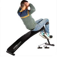 多功能仰卧起坐腹肌板收腹器 炫黑镜面仰卧起坐健身器材家用