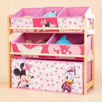 门扉 玩具收纳架 卡通实木玩具架幼儿园儿童玩具收纳架宝宝杂物整理存放储物架