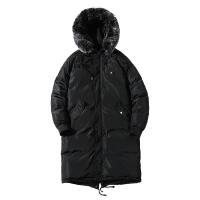 冬季新款毛领连帽棉衣男士韩版中长款棉服潮流加厚棉袄外套男