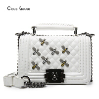 【1件3折,到手价:155.4元】Clous Krause CK女包小方包新品女款潮流简约手提包链条包手提单肩斜挎包