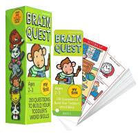 My First Brain Quest Ages2-3岁 大脑任务启蒙级 英文原版 学前认字 学前智力开发问答卡 美