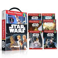 英文原版绘本 Disney Star Wars World of Reading Level 2 星球大战科幻 6册盒