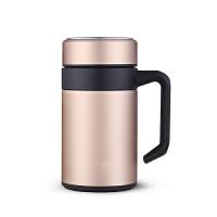不锈钢保温杯男士办公室水杯家用带手柄泡茶杯子带盖