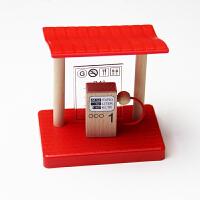 木制火车轨道配件 隧道 房子兼容木质百变托马斯轨道玩具 红色 店铺内有很多散装轨道,欢迎查看