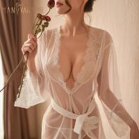 性感蕾丝透视睡袍挑逗情趣内衣女骚诱惑睡衣制服激情套装小胸大码