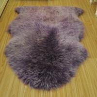 澳洲羊毛地毯羊毛沙发垫羊毛飘窗垫整张羊皮坐垫卧室客厅床边地毯 紫色 梦幻