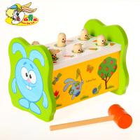 打地鼠敲打台桌面游戏 木制敲击台宝宝儿童智力玩具1-3岁